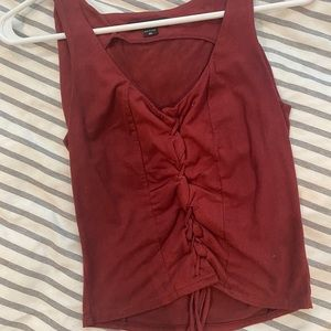 Kendall and Kylie Crop Suede Top